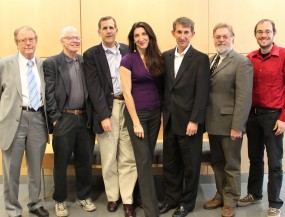 Prof Claudio Rebbi, Prof. Richard Brower, Bryan Marler (HP), Prof. Lorena Barba, Mark Hamilton (HP) Glenn Bresnahan (IS&T), Daniel Kamalic (ENG IT). Photo by Saana McDaniel, 2012.