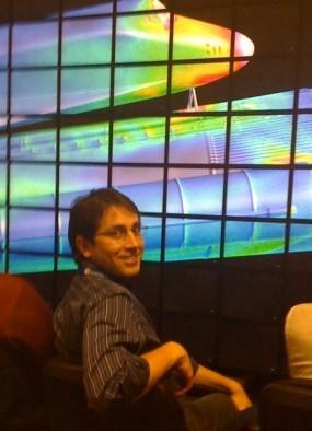 Felipe Cruz, on a visit to NASA Ames, May 2009.