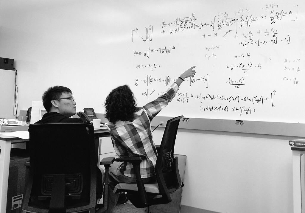 math on the whiteboard
