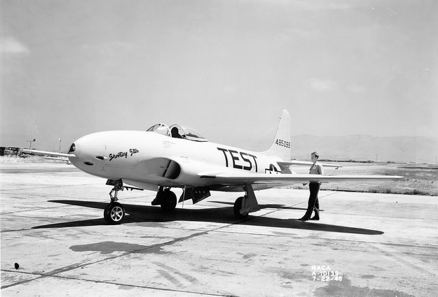 Lockheed P-80A airplane (1946). Credit: NASA Commons. —A reminder to test your code.