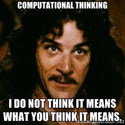 Computational thinking meme